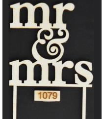 Mr Mrs Ξύλινο Διακοσμητικό Νο1