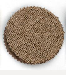Μαντήλι κομμένο Λινάτσα 10cm στρογγυλό
