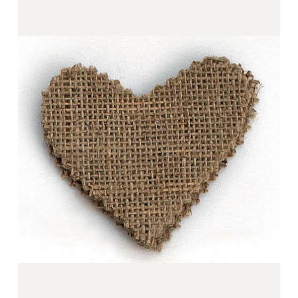 Μαντήλι κομμένο Λινάτσα 8Χ8 καρδιά