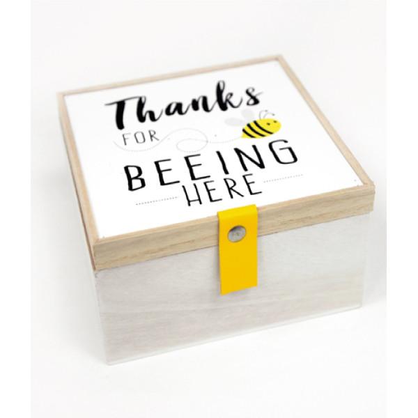ΞΥΛΙΝΟ ΚΟΥΤΙ THANKS FOR BEEING HERE