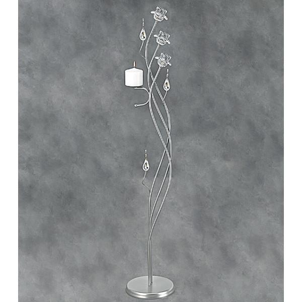Λαμπάδες Γάμου Φωτιστικά ΔΙΩΝΗ τριαντάφυλλο γυαλί
