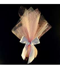 Μπομπονιέρα Γάμου Ύφασμα Αράχνη & Τούλι