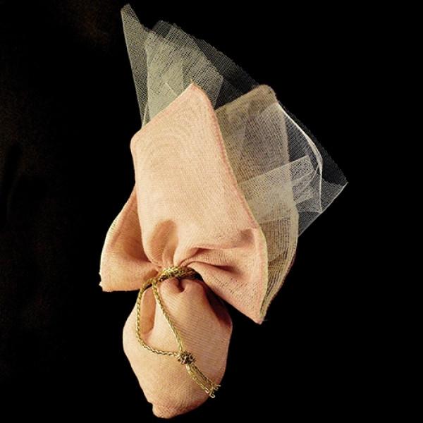 Μπομπονιέρα Γάμου Πουγκί Γάζα με Μύτη Ντουμπλαρισμένη
