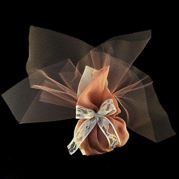 Μπομπονιέρα Γάμου Πουγκί Βαμβακερό με Μύτη