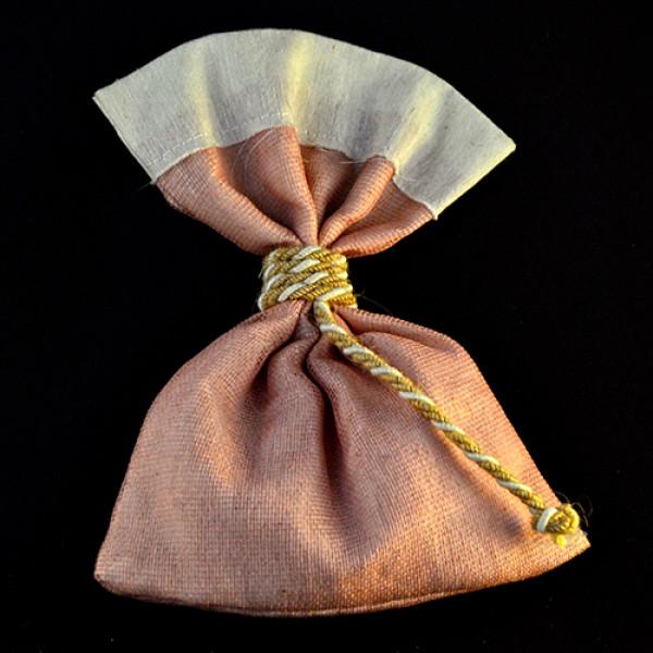 Μπομπονιέρα Γάμου Πουγκί Γάζα Σάπιο μήλο-Ύφασμα