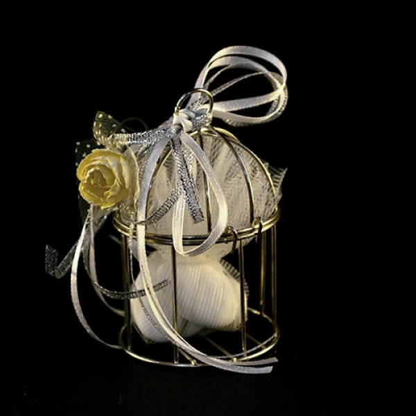 Μπομπονιέρα Γάμου Κλουβί Μεταλλικό