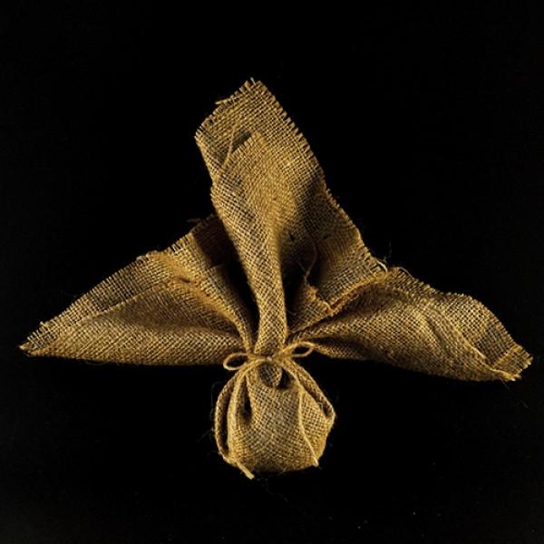 Μπομπονιέρα Γάμου Λινάτσα 45Χ45 με Κορδόνι Λινάτσας