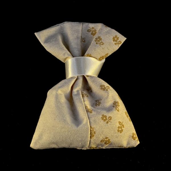 Μπομπονιέρα Γάμου Πουγκί Ύφασμα Βαμβακερό Φλοράλ