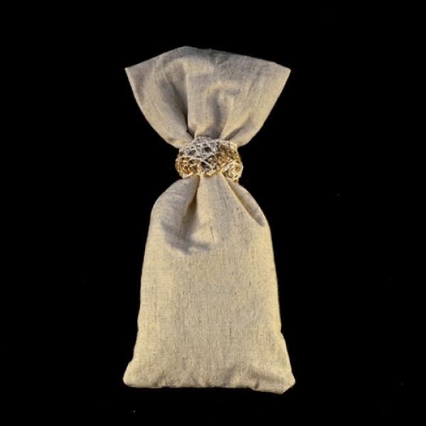Μπομπονιέρα Γάμου Πουγκί Ύφασμα Βαμβακερό 8Χ18