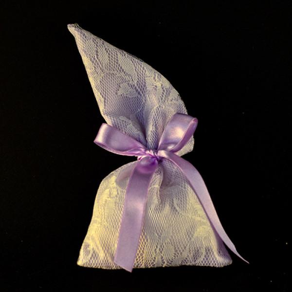 Μπομπονιέρα Γάμου Πουγκί Με Μύτη Δαντέλα
