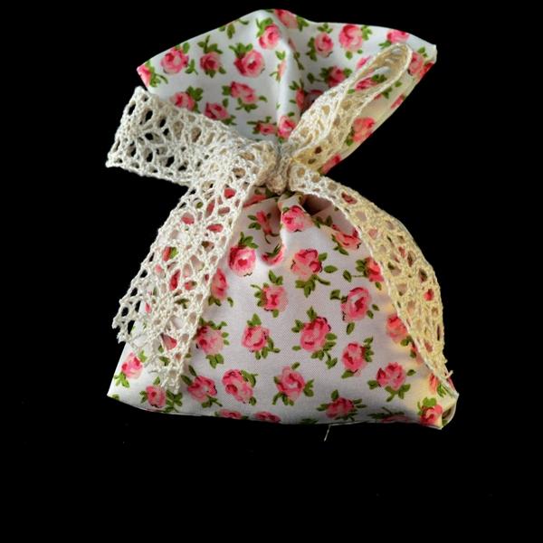 Μπομπονιέρα Γάμου Πουγκί Φλοράλ λουλούδι