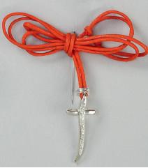 Μαρτυρικά κερομένο κορδόνι πορτοκαλί και σταυρός