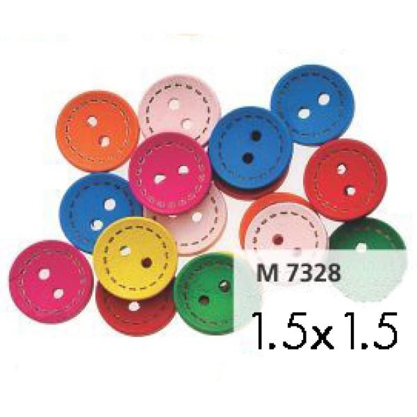 Ξύλινα Κουμπιά Χρωματιστά