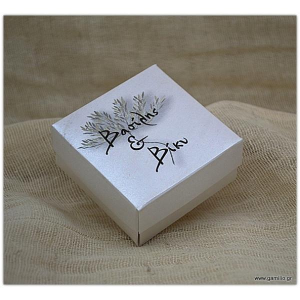 Μπομπονιέρα Κουτί με Εκτύπωση Δέντρο 7Χ7Χ3.5